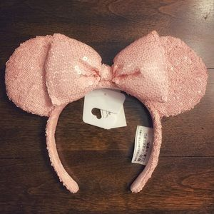 Disney Parks Millenial Pink Minnie Ears Headband